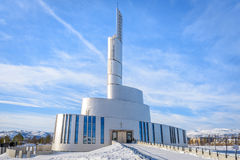 The Northern Light Cathedral Nordlyskatedralen in Alta in Norway. The Northern Light Cathedral Nordlyskatedralen in Alta in Finnmark, northern Norway Royalty Free Stock Photography