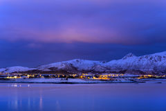 The Northern light on Lofoten Islands, Norway Royalty Free Stock Photography