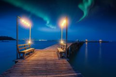 Northern light and night sky Royalty Free Stock Photography