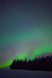 Northern light in swedish lapland Stock Images