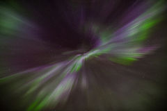Northern light (aurora borealis) colorful coronal display wity purple and pink colors Stock Images