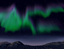 Northern lights. Illustration of the amazing aurora borealis phenomena Royalty Free Stock Photos
