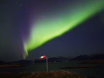 Northern lights. Aurora borealis in iceland royalty free stock photo