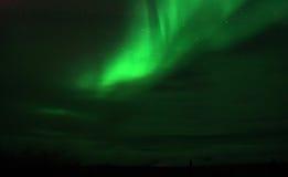 Northern Lights. The aurora borealis color the night green just north of Fairbanks, Alaska Stock Image