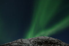 Northern lights. Beautiful lights on the sky Royalty Free Stock Photo