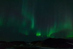 Northern Lights. By lake Myvatn in Iceland Stock Image