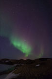 Northern Lights. By lake Myvatn in Iceland royalty free stock photo