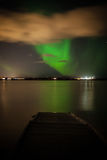 Northern Lights. Over lake in Iceland Stock Photo