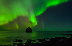 Northern lights. Above the atlantic ocean Royalty Free Stock Photo