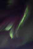 Northern Lights above Gimsoeystraumen III Royalty Free Stock Photos
