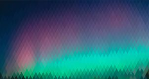 Northern lights, abstract graphic background horizontal format. Northern lights, abstract graphic background, from a diamond of different colors horizontal Royalty Free Stock Photography