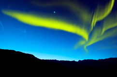 Northern lights. Amazing northern lights at night Stock Photo