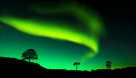 Northern lights. Amazing northern lights at night Stock Photography