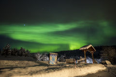 Northern lights in Anderdalen National Park Stock Images