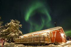 Northern lights in Anderdalen National Park Stock Photo
