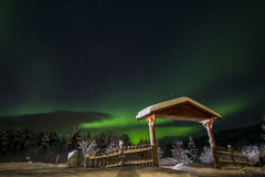 Northern lights in Anderdalen National Park Stock Image