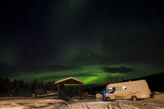 Northern lights in Anderdalen National Park Stock Photos