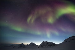 Northern Lights on the Arctic sky - Spitsbergen, Svalbard Stock Images