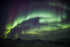 Northern Lights on the Arctic sky - Svalbard royalty free stock images