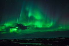 The Northern Lights. As seen from Western Iceland Stock Photos