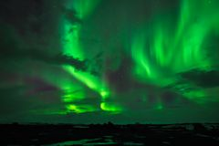 The Northern Lights. As seen from Western Iceland Stock Images