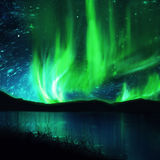 Northern lights ,aurora Stock Photos