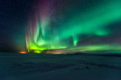 Northern Lights Aurora Borealis Stock Image