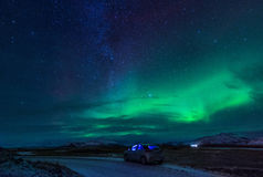 Northern lights (Aurora Borealis) in Iceland Stock Photos