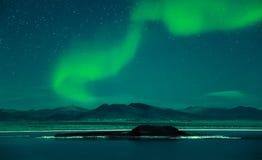 Northern Lights Aurora Borealis. At night Royalty Free Stock Photos