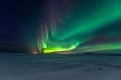 Northern Lights Aurora Borealis. At night Royalty Free Stock Image