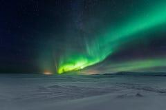 Northern Lights Aurora Borealis. At night Stock Photos
