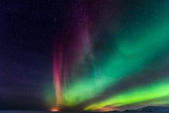 Northern Lights Aurora Borealis. At night Royalty Free Stock Photography