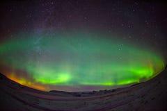 Northern Lights Aurora Borealis. At night Stock Photo