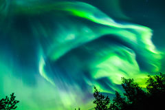 Northern lights (Aurora borealis) in the sky Royalty Free Stock Photos