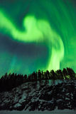 Northern lights (Aurora borealis) in the sky Stock Images