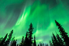 Northern lights (Aurora borealis) in the sky Stock Photography