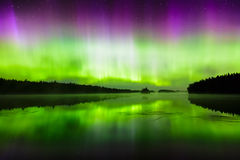 Northern lights (Aurora borealis) in the sky Royalty Free Stock Photography