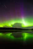 Northern lights (Aurora borealis) in the sky Stock Image