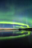Northern lights (Aurora borealis) in the sky Royalty Free Stock Image