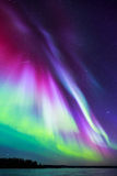 Northern lights (Aurora borealis) in the sky Royalty Free Stock Images