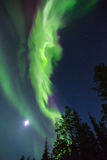 Northern lights (Aurora borealis) in the sky. Colorful Northern lights (Aurora borealis) in the sky stock photography