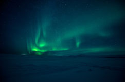 Northern Lights aurora borealis Stock Images