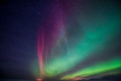 Northern Lights aurora borealis Royalty Free Stock Image
