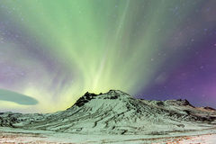 Northern Lights Aurora Stock Image