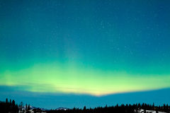 Northern Lights Aurora borealis winter landscape Royalty Free Stock Photo