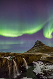 Northern Lights Aurora  Iceland Stock Image