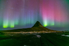 Northern Lights Aurora  Iceland Stock Photo