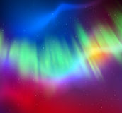 Northern lights background Stock Image