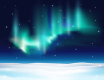 Northern lights background vector illustration. Royalty Free Stock Images