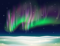 Northern lights background vector illustration. Stock Image